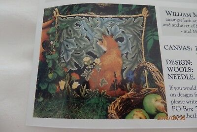 "Beth Russell William Morris Tapestry Cushion Kit ""The Fox"" VGC"