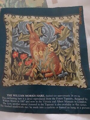 "William Morris Tapestry Cushion Kit ""The Hare""  with Appleton Wool GUC"