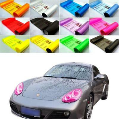30*60/30*100cm Car Headlight Sticker Tint Film Taillight Fog Light Wrap Useful Q