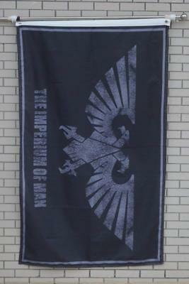 Imperium of Man Warhammer Galactic Empire Eagle Flag Banner 3x5ft