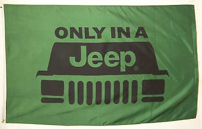 Jeep Flag  Indoor Outdoor Only In A Jeep Banner 3' X 5'