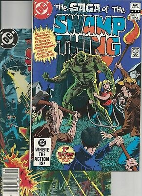 Saga of the Swamp Thing #1,20 (DC 1984) 1st Alan Moore  Mark Jewelers FN/VF-