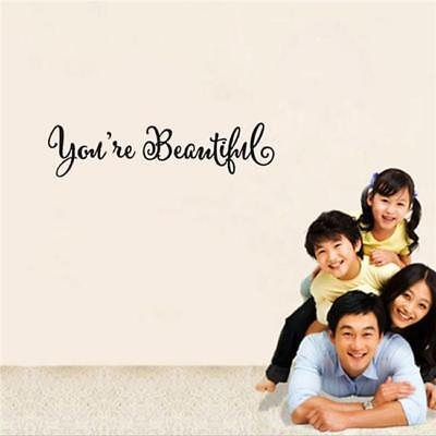 You're Beautiful Quote Inspirational Wall Decal For Home Bathroom Mirror SO