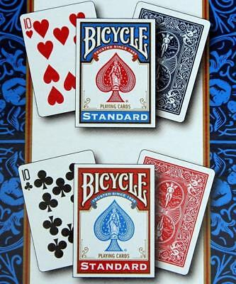 4 Decks Bicycle US Standard Playing Cards Card Sealed Poker 2 Red 2 Blue NEW