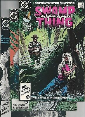 Swamp Thing #54,55,56,57,58 (DC 1986) Alan Moore Steve Bissette Rick Veitch VF-
