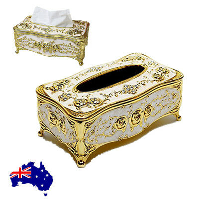 European Style Tissue Box Cover Chic Napkin Case Holder Hotel Home Room Office