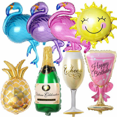Champagne Bottle Glass Foil Balloons Happy Birthday & Wedding Party Decor Pop BY