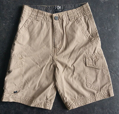 Fox Racing Boys Cargo Shorts Youth Sport Casual Shorts Khaki Size 22-27