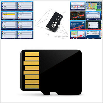 8GB Micro SD Card Middle East Maps Car GPS Navigation Software For Win CE System