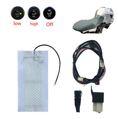Universal 12V Moped Scooter Heated Seat Pad Heater Warmer Pad w// High//Low Switch