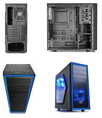 Deepcool Tesseract SW Gaming Mid Tower Desktop PC Black Computer Case No PSU