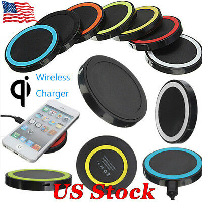 US Qi Wireless Universal Charger Dock Charging Pad Mobile Phone Adapter Wirless
