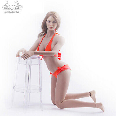 "1/6 Woman Soldier Swimsuit Bikini Underwear Orange Fit 12"" Female PH Body Figure"