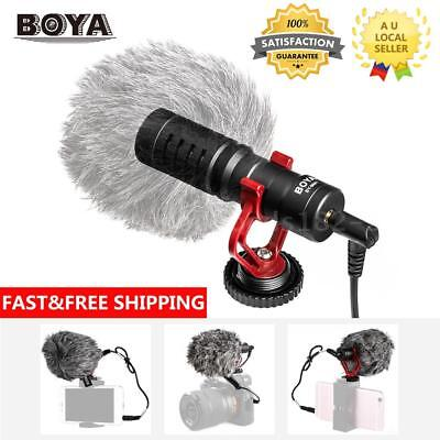 BOYA BY-MM1 3.5mm Cardiod Shotgun Microphone Video MIC for Smartphone Camera AU