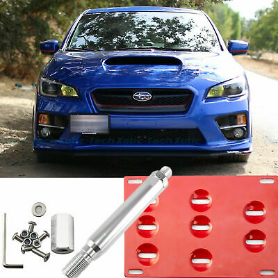 Bumper Tow Hook License Plate Mounting Bracket For Subaru Scion FRS BRZ WRX STi