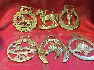 Good Job Lot Of 6 Quality Horse Brasses Nice Ones All Horse Pattern