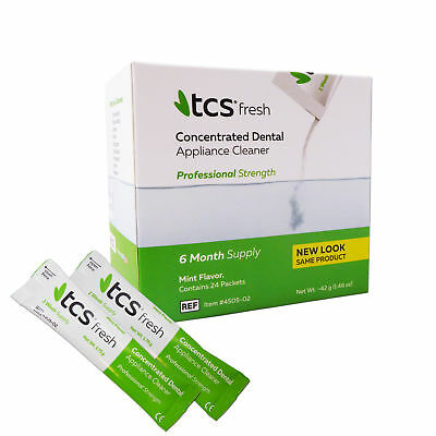 TCS Cleaner 24 Weekly Sachets ~ 6 Months Cleaning Flexible Dentures Partials