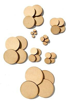 Wooden Circles Laser Cut MDF/ PLY Blank Embellishments Craft Decorations Shapes