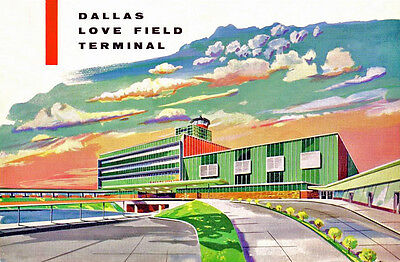 "Dallas Love Field Terminal c.1957 ((16""x20"")) Print"