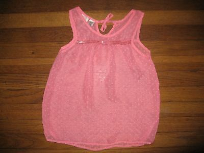 4704948773710 Route 66 Girls Large (10 12) Pink Sequin Sleeveless Tank Top Blouse Dress