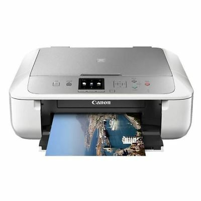 Canon MG5765wh MG5760 Wireless PRINT SCAN COPY Mobile Airprint USB PC Mac NO INK