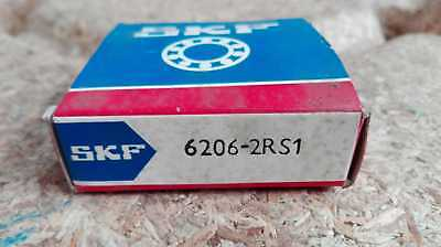 SKF Roulements à Billes / Type:6206 2rs1 (30x62x16mm) Neuf / Emballage D'Origine