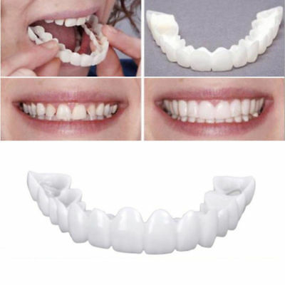 Snap On Perfect Smile Fake Tooth Cover Comfort Fit Flex Teeth White Utility