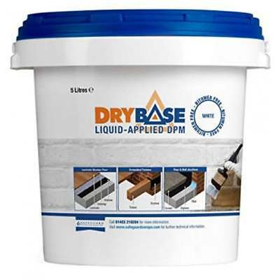 Drybase Liquid Damp Proof Membrane 5L White Liquid Dpm Damp Proofing Paint