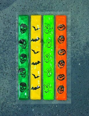 Halloween Trick or Treat HI Vis Safety Strips Peel & Stick Reflective NEW
