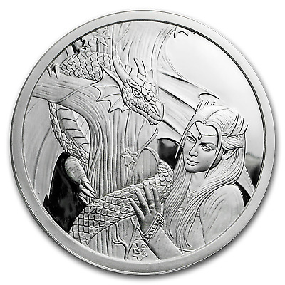 5 oz Silver Proof Round Anne Stokes Dragons (Kindred Spirits) - SKU#172503