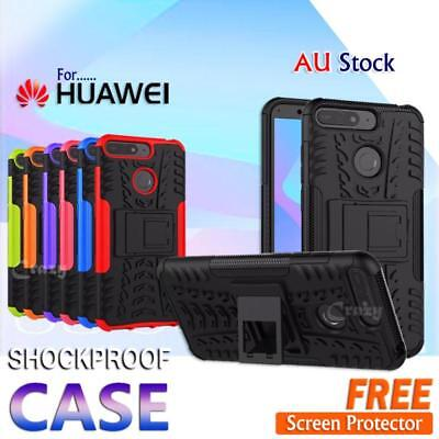 For Huawei Y5 Y6 2018 Y7 Pro 2019 Shockproof Heavy Duty Stand Rugged Case Cover