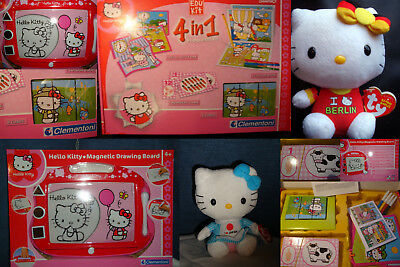 Hello Kitty Paket Zaubertafel Spielekoffer Plüsch Babies Collection Posten