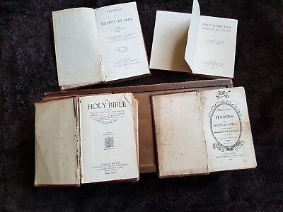 Antique old bible , Holy communion and Hymn books