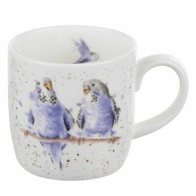 New Royal Worcester Wrendale Designs Date Night Parakeets China Mug Coffee Cup