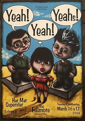 Yeah Yeah Yeahs 2004 Fillmore Poster (signed by Nick Zinner)