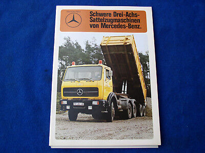 Mercedes-Benz LKW Sattelzugmaschine 2635 AS 6x6 Prospekt Brochure 07.1989