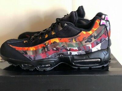 NIKE AIR MAX 95 ERDL Party Black Camo Multi AR4473 001 Mens Airmax Shoes NIB