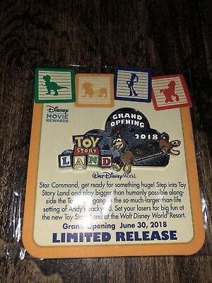 Disney Toy Story Land 2018 Grand Opening Limited Release  Pin