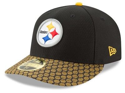 3d154db904b82a New Era 59fifty Fitted NFL Pittsburgh Steelers Sideline 5950 Hat SZ 7 NWT  $40