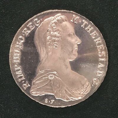 1780 Austrian Maria Theresa Thaler Restrike ~ Fine Silver Large Proof Coin