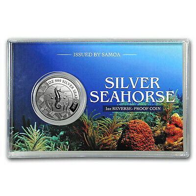 2018 Samoa 1 oz Silver Seahorse Reverse Proof Like Coin - SKU#175744