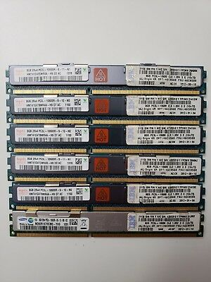 (Lot of 6) Samsung 8gb 2Rx4 PC3L-10600R Memory Tested & Working!