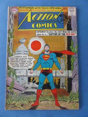 Action 300 1963 Classic Red Sun Cover! Supergirl!