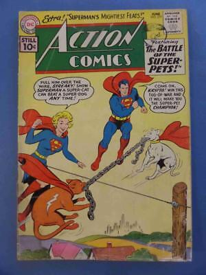 Action 277 1961 Supergirl Battle Of The Super-Pets!