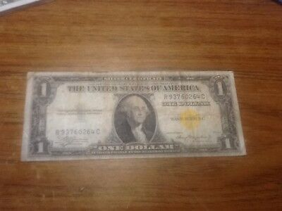 1935-A $1 Dollar Yellow Seal North Africa WW2 Silver Certificate Note