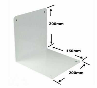 Twin Slot Upright Free Standing Bookend White 200mm