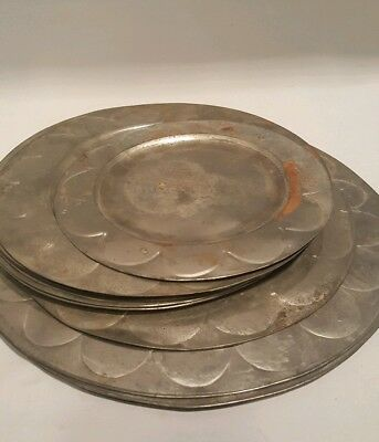 MEXICAN TIN TRAYS LOT OF 13 ANTIQUE FROM 50's GREAT MIDCENTURY  MODERN DESIGN