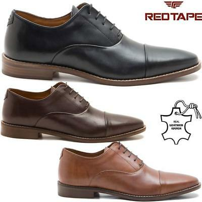 Mens Red Tape Leather Shoes Smart Office Wedding Work Formal Party Oxford Shoes