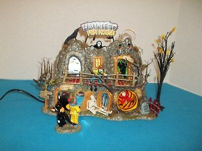 Dept 56 Haunted Fun House Halloween Gift Set Retired MIB