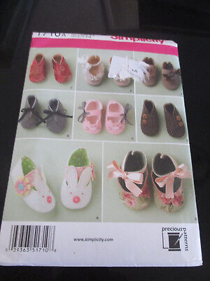 Simplicity Sewing Pattern~1710~Uncut~Various Too Cute Baby Shoes